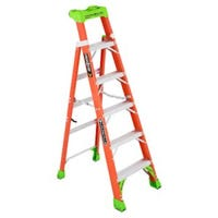 2-In-1 Cross Step Ladder, Fiberglass, Type 1A, 6-Ft.