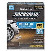 Rocksolid Garage Coating Kit, Earth Brown Metallic, Covers Up To 100 Sq. Ft.