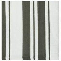 Dish Cloths, Pewter Stripe Cotton, 13 x 13-In., 2-Pk.