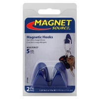 Magnet Hooks With Gripper Pads, 2-Pk.