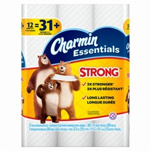 Image of Charmin Essentials Toilet Paper Strong 12 Giant Rolls