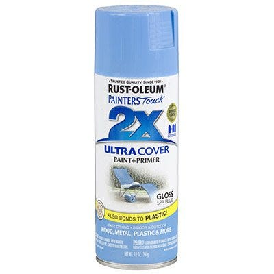 Painter's Touch 2X Spray Paint, Gloss Spa Blue, 12-oz.