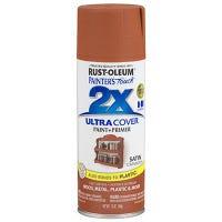 Painter's Touch 2X Spray Paint, Satin Cinnamon, 12-oz.
