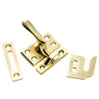 Casement Window Lock, Polished Brass