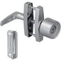 Screen & Storm Door Latch With Key, Silver Knob
