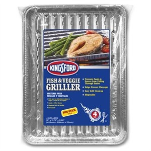 Image of Fish and Veggie Griller Pan, Non-Stick, 4-Pk.