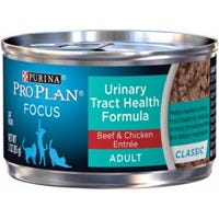 Cat Food, Urinary Tract Health, Beef & Chicken, 3-oz.