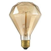 Designer Diamante Amber Bulb, Incandescent, 40-Watts