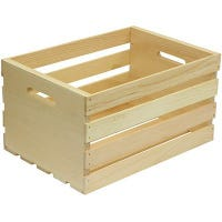 Wood Storage Crate, Large