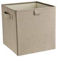 Storage Bin, Gray Stone Polyester, 11 x 10.5 x 10.5-In.