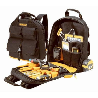 Tool Backpack, 23-Pockets, USB Charger