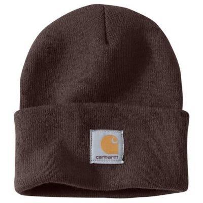 Watch Hat, Acrylic, Dark Brown
