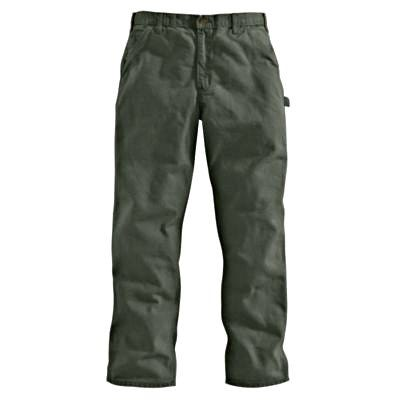 Dungaree Work Pants, Washed Duck, Loose Original Fit, Moss, 32 x 34-In.