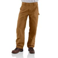 Dungaree Double-Front Work Pants, Washed Duck, Loose Original Fit, Brown, 42 x 30-In.