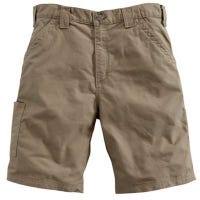 Canvas Work Shorts, Loose Original Fit, Light Brown, Size 34