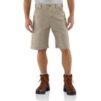 Canvas Work Shorts, Loose Original Fit, Tan, Size 32