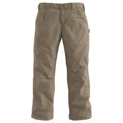 Dungaree Work Pants, Canvas, Loose Original Fit, Light Brown, 36 x 32-In.