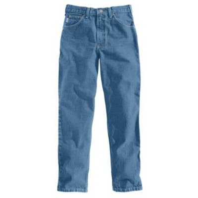 Image of Relaxed Fit Tapered Jeans, Stonewash, 30 x 32-In.