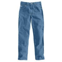 Relaxed Fit Tapered Jeans, Stonewash, 35 x 32-In.