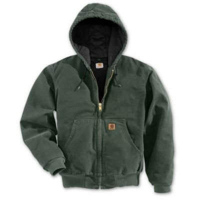 Image of Active Quilted Flannel-Lined Jacket With Hood, Moss, Small