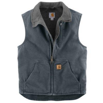 Image of Mock Neck Vest, Gravel, XXL