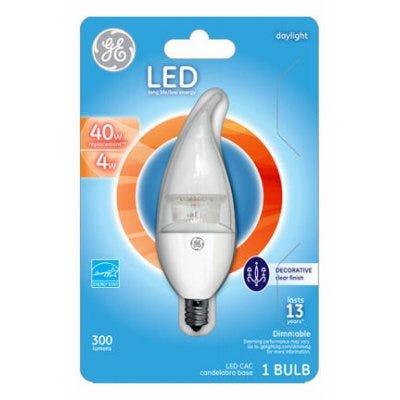 LED Light Bulb, Clear, Dimmable, 300 Lumens, 4-Watt