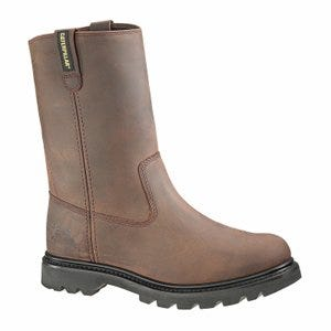Revolver Steel-Toe Pull Up Boot, Leather Upper, Dark Brown, Men's Size 8.5 Wide