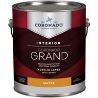Grand Interior Latex Paint & Primer In One, Matte, Tintable White, Gallon