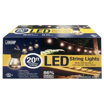 LED String Light Set, 20-Ft.