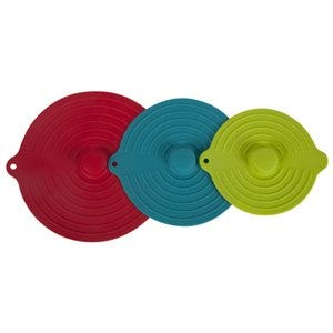 Silicone Suction Lid, 3-Pc., Assorted Colors