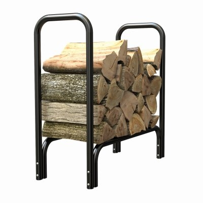 Image of Deluxe Log Rack, Black, 2-Ft.