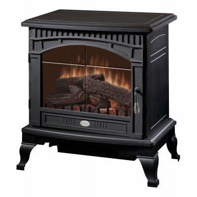 Electric Stove Heater, Black, 25-In