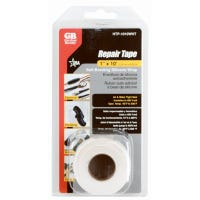 Self-Sealing Silicone Repair Tape, White, 1-In. x 10-Ft.