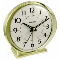Alarm Clock, Battery Operated, Gold