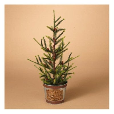 Artificial Christmas Tree, 18-In.