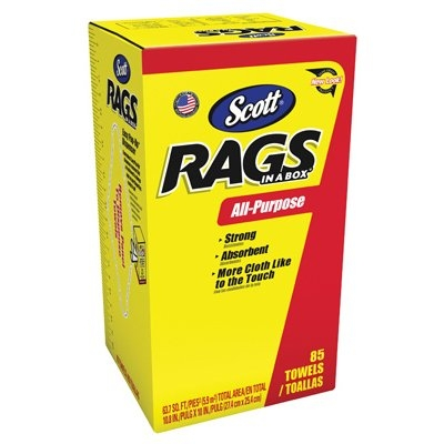 Image of 85-Pack Rag in a Box, White