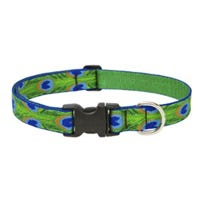 Dog Collar, Adjustable, Tail Feather, 3/4 x 13 to 22-In.