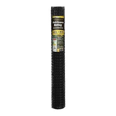 Multi-Purpose Netting Fence, Black Plastic, 4 x 50-Ft.