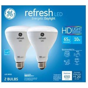 Refresh LED Light Bulbs, Daylight, 650 Lumens, 10-Watts, 2-Pk.