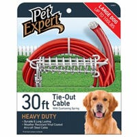Dog Tie Out, Heavy Weight Steel Aircraft Cable, 30-Ft.