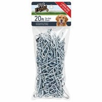 Dog Tie Out Chain, Extra Heavy, 20-Ft.