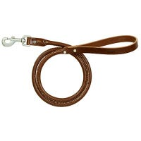 Rolled Dog Leash, Brown, 1-In. x 4-Ft.