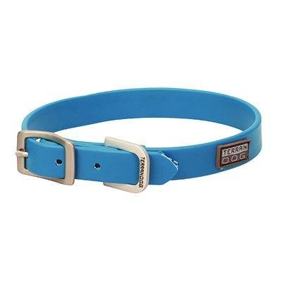 Brahma Webb Dog Collar, Blue, 3/4 x 17-In.