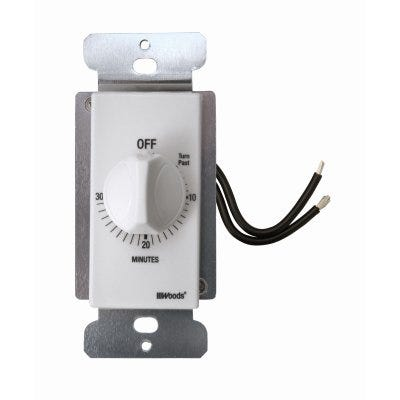 In-Wall 30-Minute Switch Timer, White