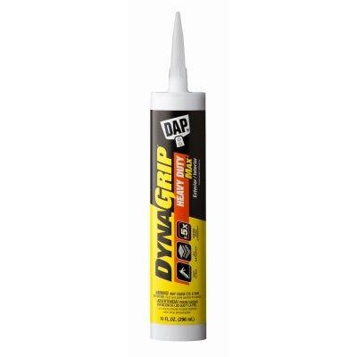 DynaGrip Heavy Duty Max Construction Adhesive, White, 10-oz.