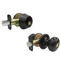 Combination Lockset, Aged Bronze