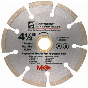 Circular Saw Blade, Contractor Dry/Wet, 4.5-In.
