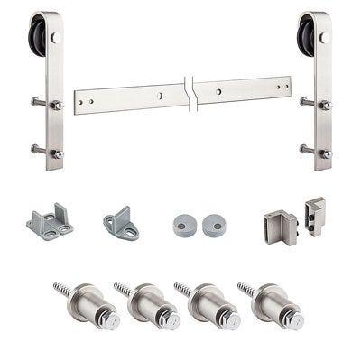 Decorative Sliding Door Hardware Kit, Satin Nickel