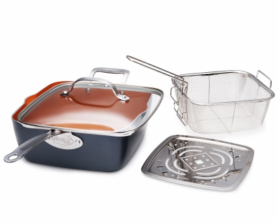 Image of Deep Square Pan, Non-Stick Ceramic, 9.5-In.