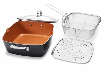 Image of Deep Square Pan, Non-Stick Ceramic, 11-In.